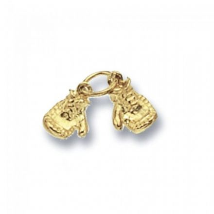 Yellow Gold Pendants -Boxing Gloves Double, PN457